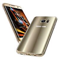 Металлический бампер + цветная оболочка ПК Чехол для Samsung Galaxy S7 Edge