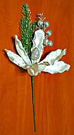 Декоративный новогодний цветок   40 см