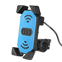 Мотоцикл Велосипед ATV Руль 3,5-7inch сотовый телефон GPS Зарядное устройство держатель