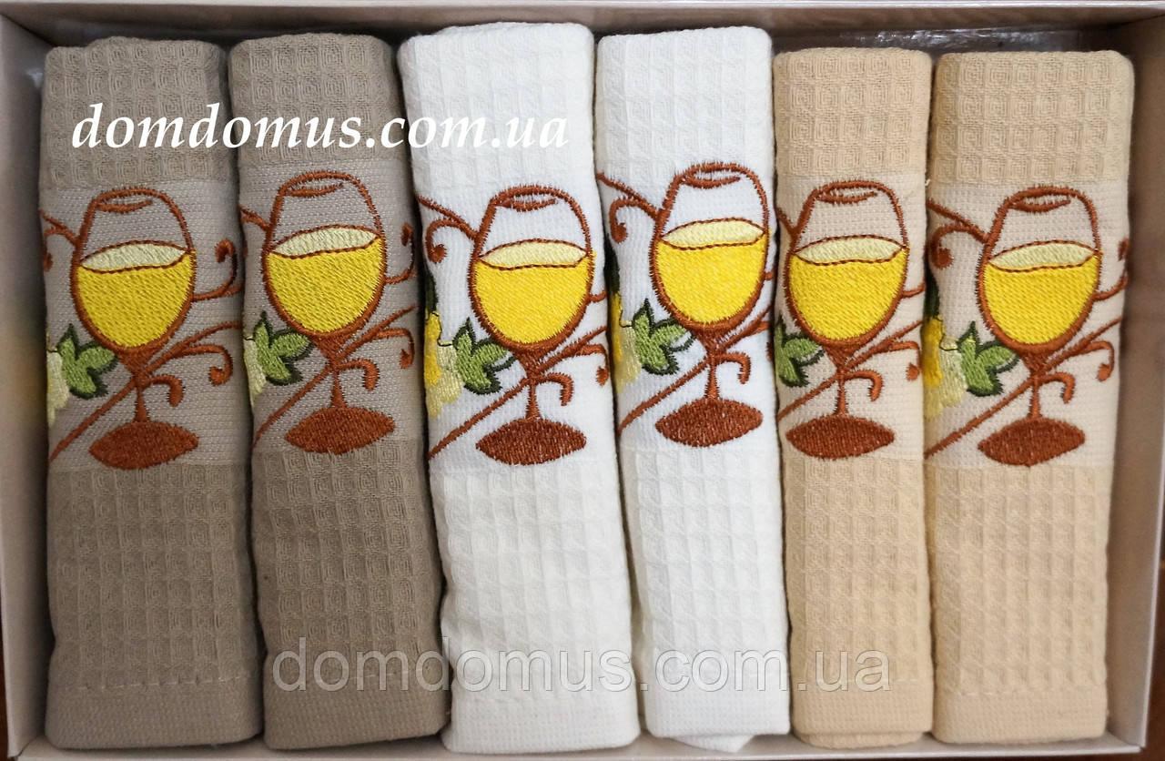 Набор вафельных кухонных полотенец Philippus 30*50 см, 6 шт.,Турция 033