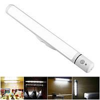 Питьевой беспроводной PIR Motion Датчик LED Светильник для шкафа Night Аккумуляторы Powered Лампа с магнитным