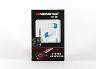 Вакуумные наушники Monster MDR 097, проводные наушники для телефона смартфона