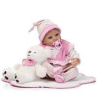 22inch Handmade Lifelike Reborn Baby Кукла Силиконовый Baby Play House Bath Toy