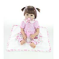 22inch Lifelike Reborn Baby Кукла Ручная работа Силиконовый Новорожденная девочка Кукла Игрушка
