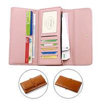 Универсальныетрехстворчатые10-карточныеслотыКожаныйкожаный кошелек для телефона под 5,5-дюймовым