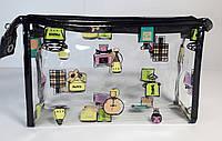 Косметичка прямоугольная  прозрачная силиконовая купить оптом и в розницу