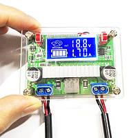 3A Модуль источника питания постоянного тока DC-DC с двойным LCD Дисплей Напряжение Амперметр с корпусом