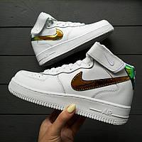 Женские весенние кроссовки Nike Air Force (реплика ТОП качества)