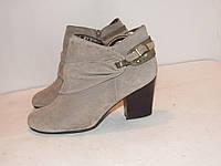Andrew-Deller_Португалия замша шикарные ботинки на каблуку 40р ст.25,5см H42