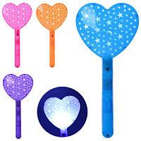 Игровой набор MK 1386, палочка, сердце, свет, 4 цвета