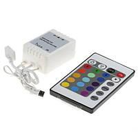 LED контроллер с пультом управления светодиодными RGB лентами 24 кнопки LED CONTROLLER RGB (150)