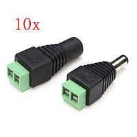 10 x гнездо для женщин 12V DC разъем для подключения штепсельной вилки Коннектор 5.5x2.1mm для CCTV