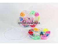 Набор разноцветных резинок для браслетов Loom Band LB015, резиночки для плетения loom bands