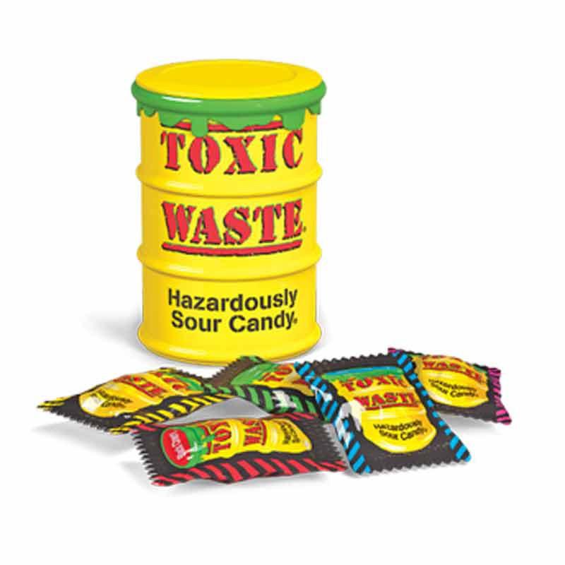 Кислые конфеты  Токсик Вейст (Toxic Waste) желтый