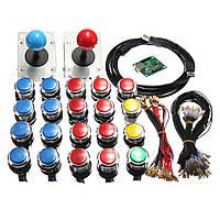Аркады LED MAME 2 Player USB Bundle Набор 2 джойстика 4 и 8 way 20 Push Кнопки