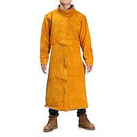 Прочная кожаная сварка с длинным пальто Фартук защитная одежда Одежда Костюм
