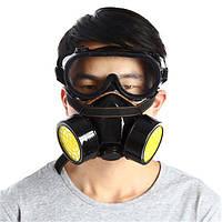 Двойной фильтр маски защиты газа Фильтр Химический респиратор Маска для пожарной Самосовершенствование защиты