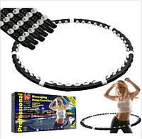 Массажный обруч для талии HULA HOOP, обруч гимнастический разборной, обруч с шипами хулахуп