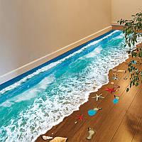 Honana DX-X1 3D Creative Водонепроницаемы Самоклеящиеся наклейки для спальни настенные напольные пасты Home Decor