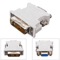 DVI-D (18 + 1) Dual Link мужчины к VGA HD15 Женский конвертер адаптер для портативных ПК