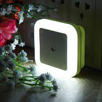 AC110-220V 0.5W штепсельный LED Ночной свет Лампа с подсветкой и датчиком света Теплый белый US штепсель / EU штепсель