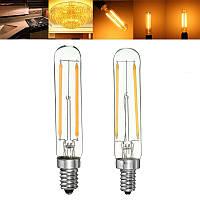 Диммируемый Retro 2W E12 E14 T20 Холодильник LED COB Нить лампы Теплый белый