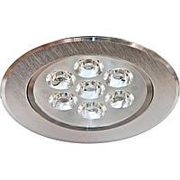 Точечный потолочный светильник LED LAMP 5W, врезной круглый светильник