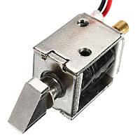 12V DC 0.43A Мини-электрический болт Замок Раздаточный соленоид для выдвижной катушки Замок 4 мм ход