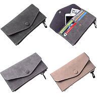 Сцепление Длинный кошелек кожаный бумажник чехол телефон сумка карты Solt держатель для iPhone Samsung Xiaomi Huawei