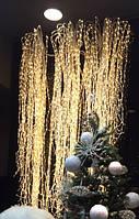 """Гирлянда """"Конский хвост"""" пучок 320 LED: 10 линий по 2 м, 25 диодов/ нить, цвет - тёпло-белый"""