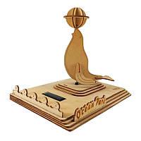 3DобразованияСолнечнаяPoweredигрушкиЭнергия Морские наборы льва Кирпичный блок Дерево Puzzle Модель Игрушки