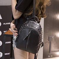 Женский городской рюкзак черного цвета