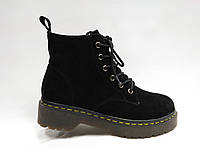 Ботиночки на толстой подошве со шнурками и молнией. , фото 1