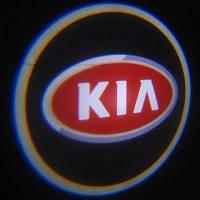 Дверной логотип LED LOGO 100 KIA, светодиодный логотип на дверь авто, эмблема kia