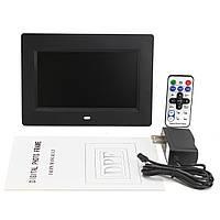 7-дюймовый TFT LCD 800 * 480 Цифровая фоторамка Фото Видео Аудио с пультом дистанционного управления