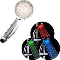 Светодиодная насадка для душа LED SHOWER 3 colour, насадка на душ с подсветкой led shower