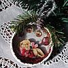 Елочное украшение Подвеска медальон на елку Подарки ручной работы на новый год