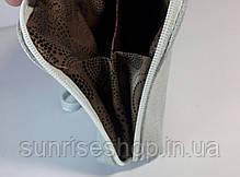 Косметичка кожаная светлая, фото 3