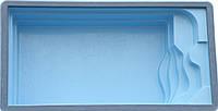 """Бассейн """"АТЛАНТИК"""" 6,5 х 3,5 х 1,5м. В голубом цвете."""