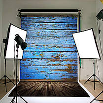 3X5FT Retro Wood Floor Blue Board Студия фото Фотография Фон Фон, фото 2