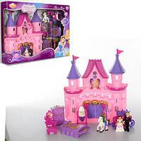 Детский замок SG 2978 принцессы, карета, мебель, фигурки, музыка, свет, кукольный домик, дом для куклы