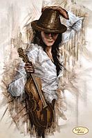 """Схема для вышивания """"Джаз. Скрипка"""""""