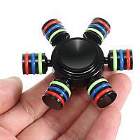 ШестигранныйчерныйалюминиевыйсплавFidgetРука Spinner EDC Fingertips Уменьшить стресс Фокус Внимание Игрушки