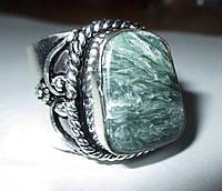 """Серебряный перстень  с натуральным серафинитом """"Ватикан"""" , размер 19,6 от студии LadyStyle.Biz, фото 1"""