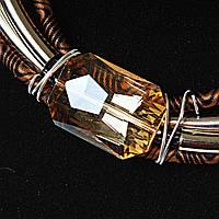 [2,5 / 3,5 мм] Ожерелье африканский мотив, цвета: бирюзовый, коричневый, черный,  4 ряда, металлические бусины, вставки плетенки и тканевые узоры,