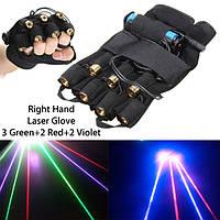 3 Зеленый+2 Красный+2 Фиолетовый лазерная перчатка Освещение сцены DJ Танцор шоу для Деснице