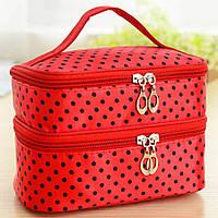 Дорожная косметичка - органайзер, сумка для косметики, для путешествий, красная 11341п-г