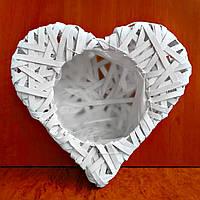 Сердце из лозы (1345w) 30х26 см