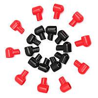 10 пар 20x12mm красный черный Круглые клеммы аккумулятора Сапоги электроизоляционные Covers