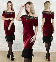 Платье / бархат, гипюр / Украина, фото 1